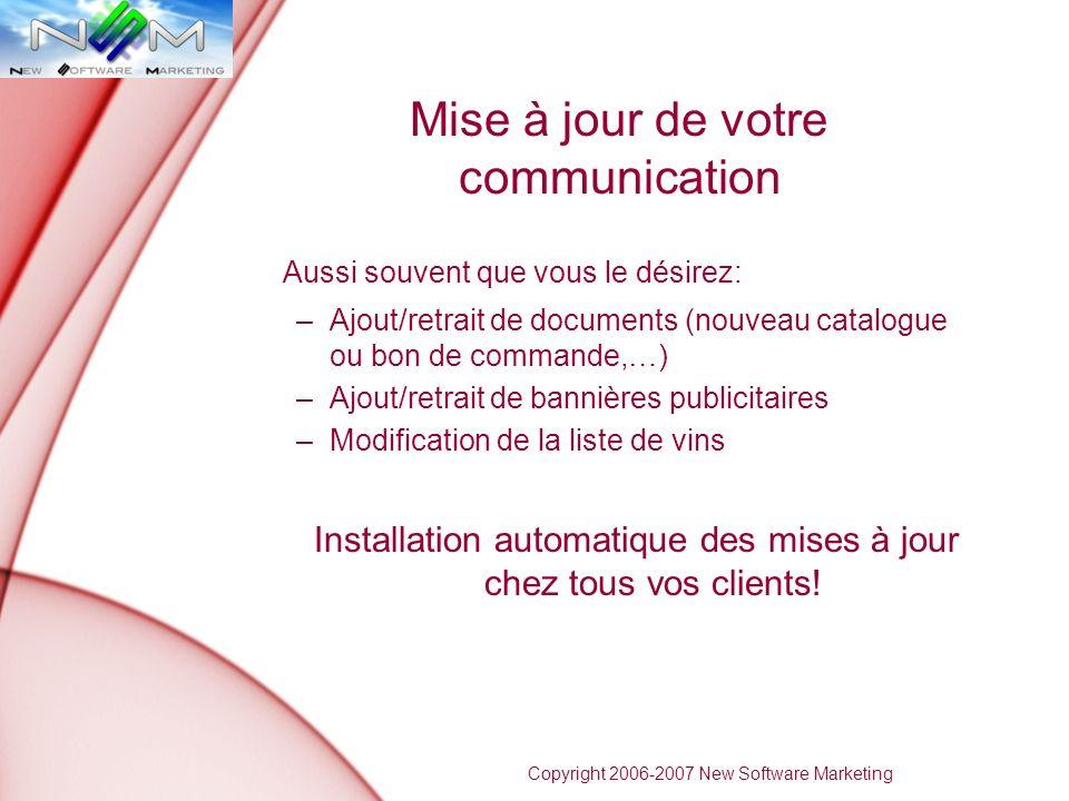 Mise à jour de votre communication