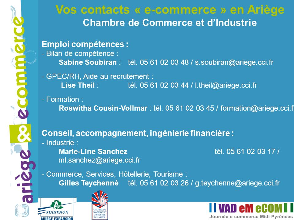 Vos contacts « e-commerce » en Ariège
