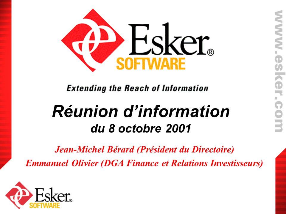 Réunion d'information du 8 octobre 2001
