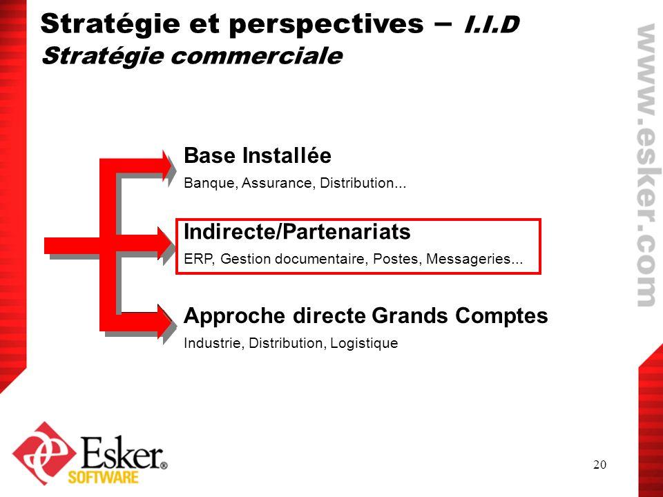 Stratégie et perspectives – I.I.D
