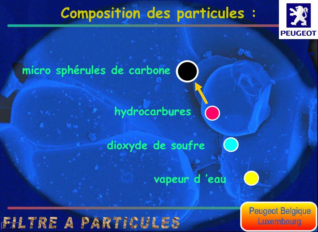 Composition des particules :