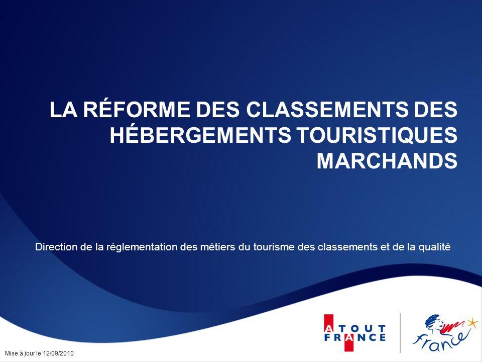 La réforme des classements des Hébergements touristiques marchands