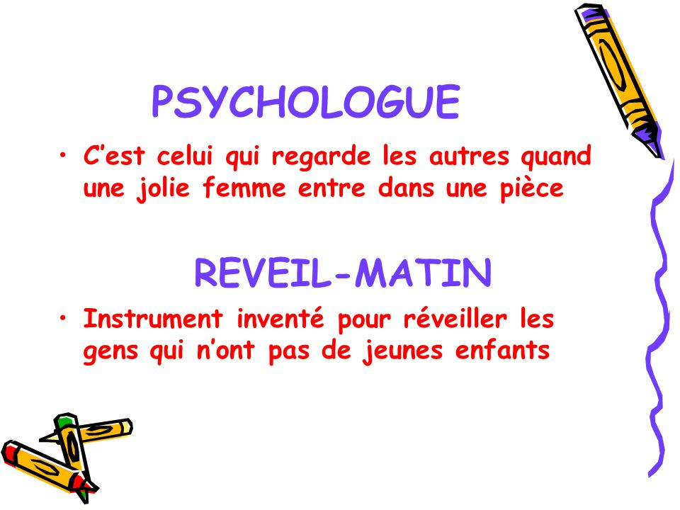 PSYCHOLOGUE REVEIL-MATIN