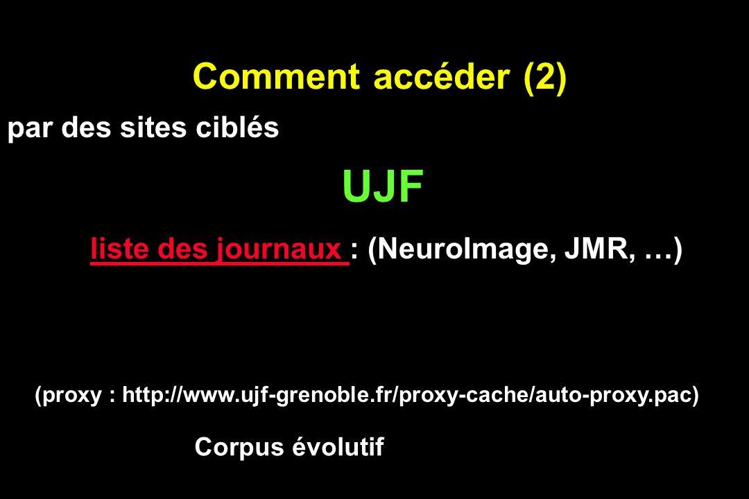 UJF Comment accéder (2) par des sites ciblés