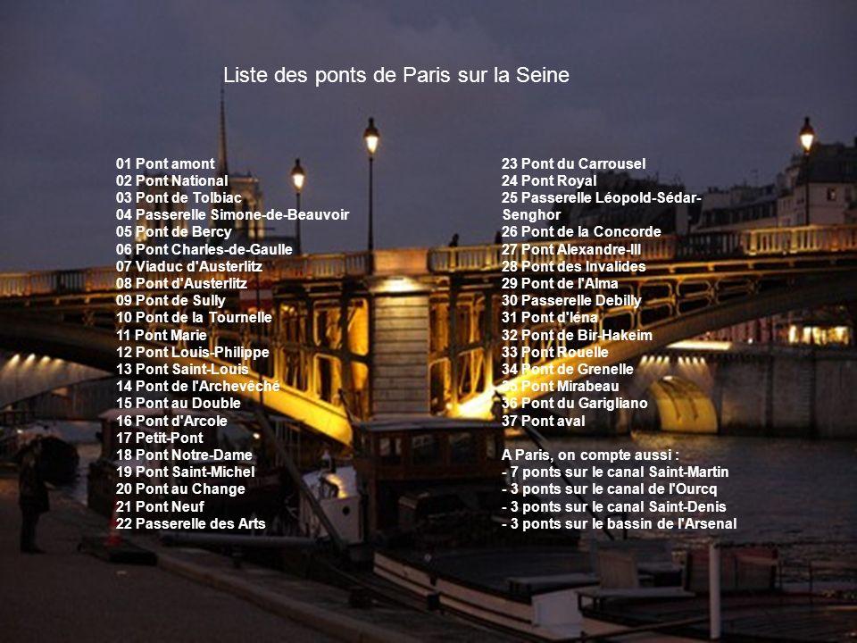 Liste des ponts de Paris sur la Seine