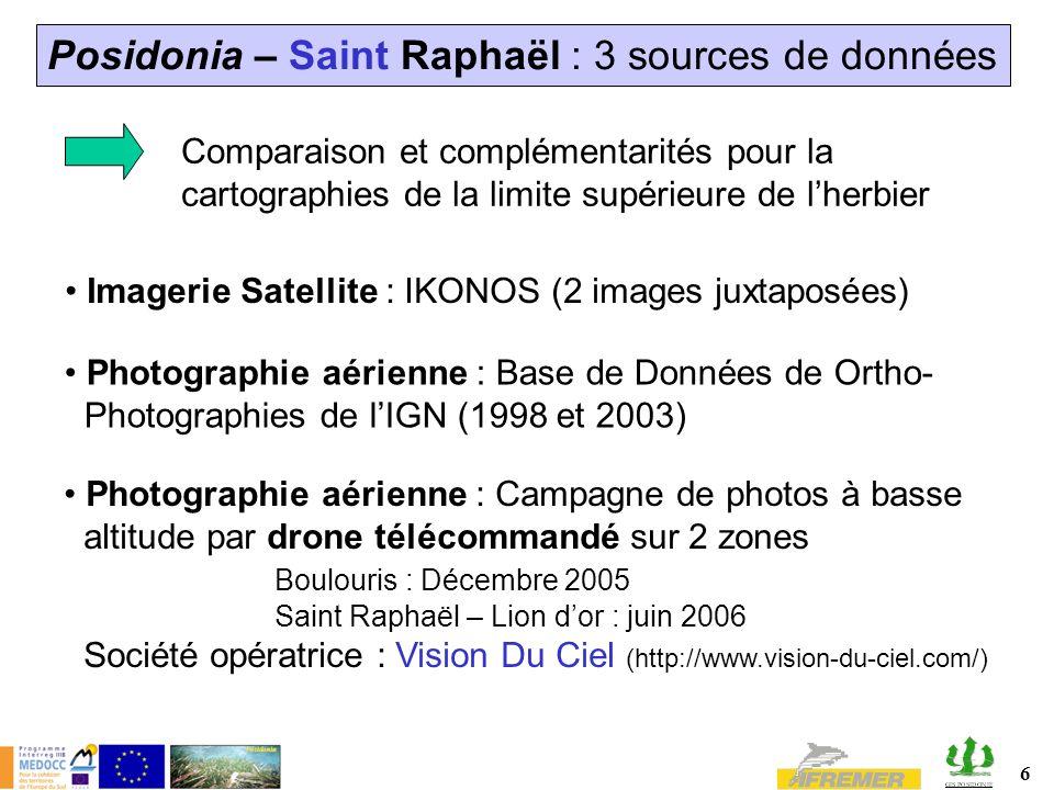 Posidonia – Saint Raphaël : 3 sources de données