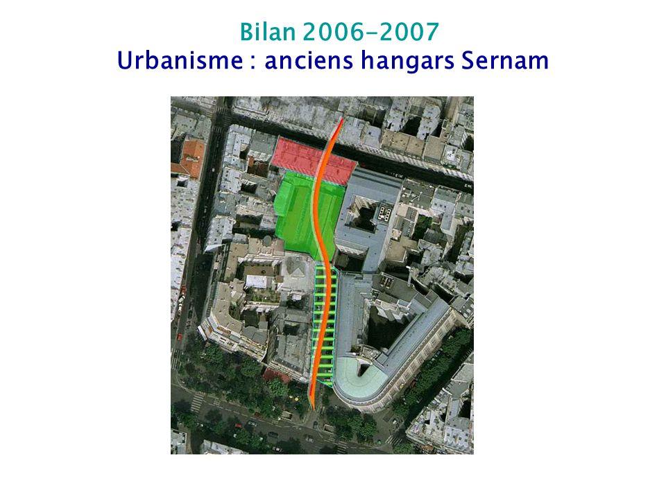 Urbanisme : anciens hangars Sernam