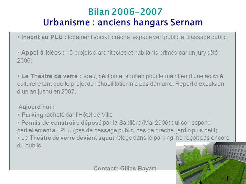 Urbanisme : anciens hangars Sernam Contact : Gilles Bayart