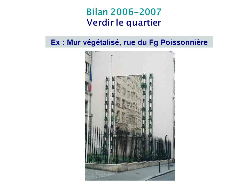 Ex : Mur végétalisé, rue du Fg Poissonnière