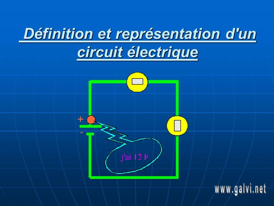 Définition et représentation d un circuit électrique