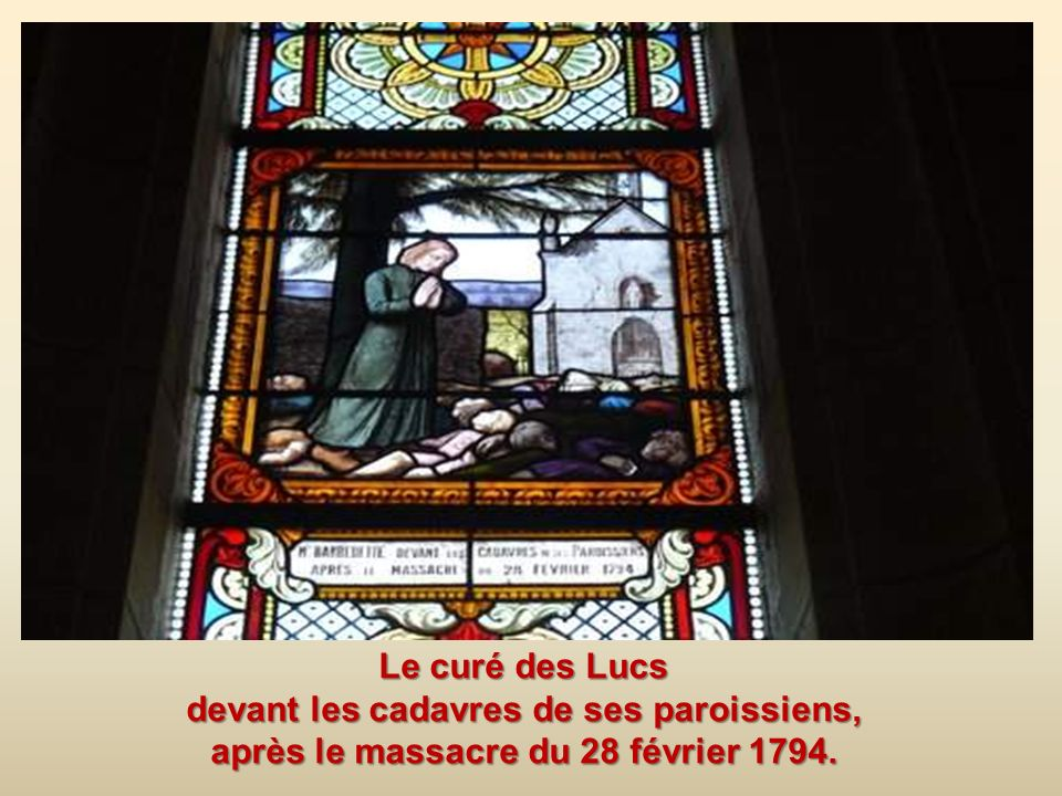 Le curé des Lucs devant les cadavres de ses paroissiens, après le massacre du 28 février 1794.