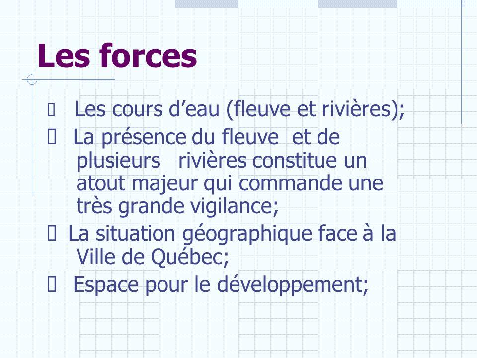 Les forces Ø Les cours d'eau (fleuve et rivières);