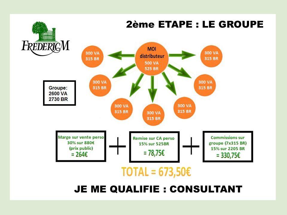 2ème ETAPE : LE GROUPE JE ME QUALIFIE : CONSULTANT