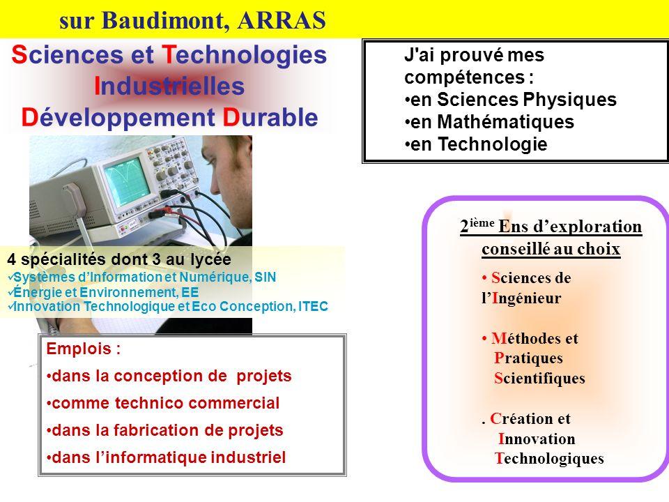 Sciences et Technologies Industrielles Développement Durable