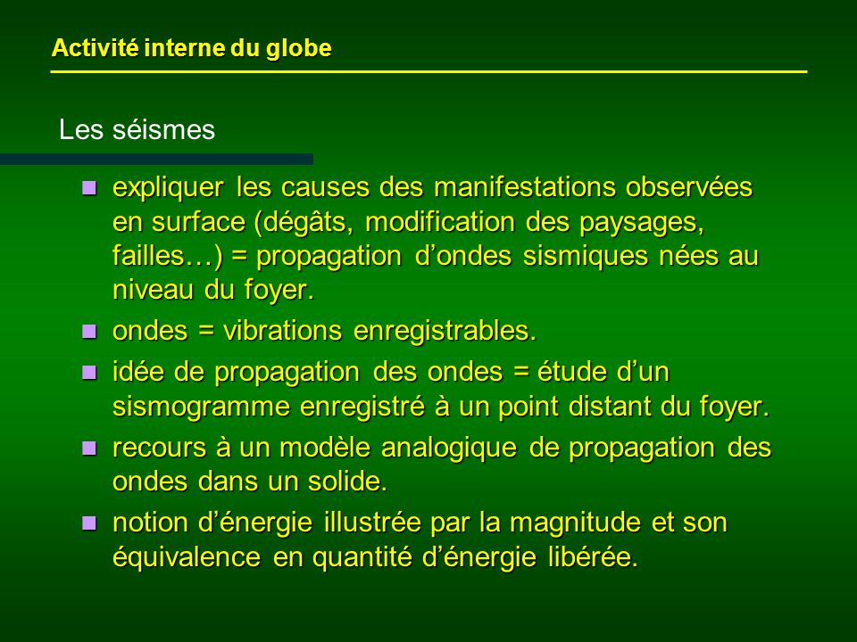 ondes = vibrations enregistrables.