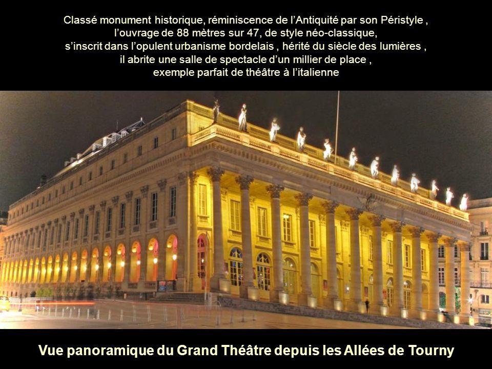 Vue panoramique du Grand Théâtre depuis les Allées de Tourny