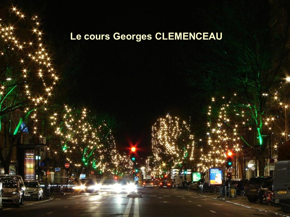 Le cours Georges CLEMENCEAU