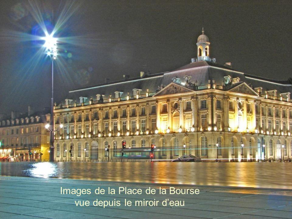 Images de la Place de la Bourse vue depuis le miroir d'eau