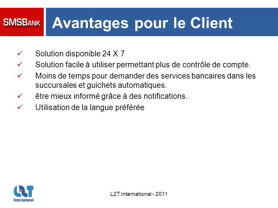 Avantages pour le Client