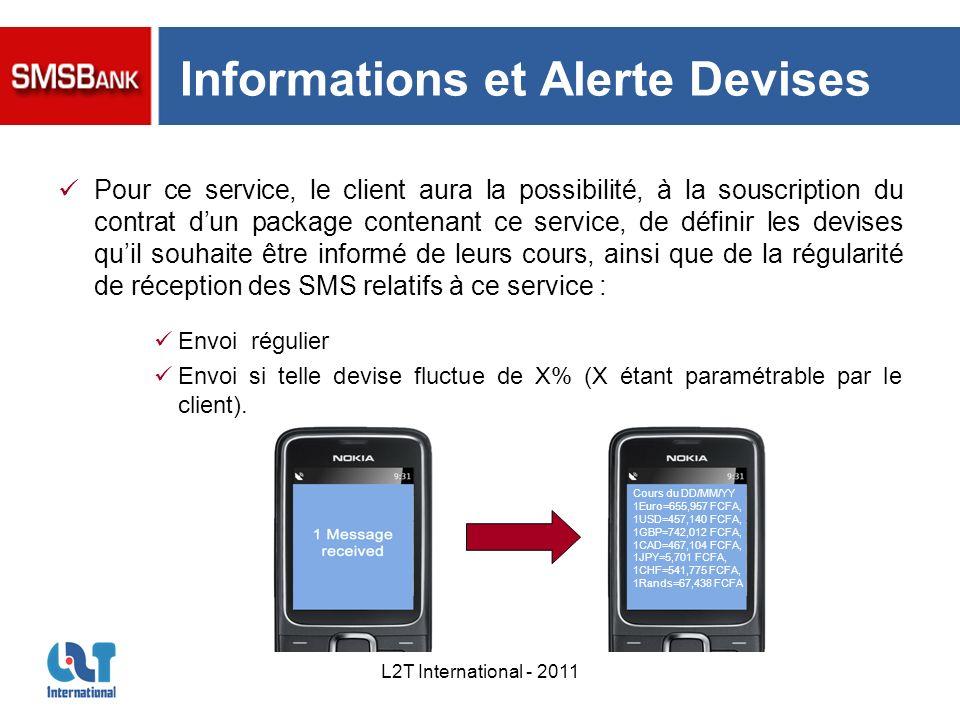 Informations et Alerte Devises