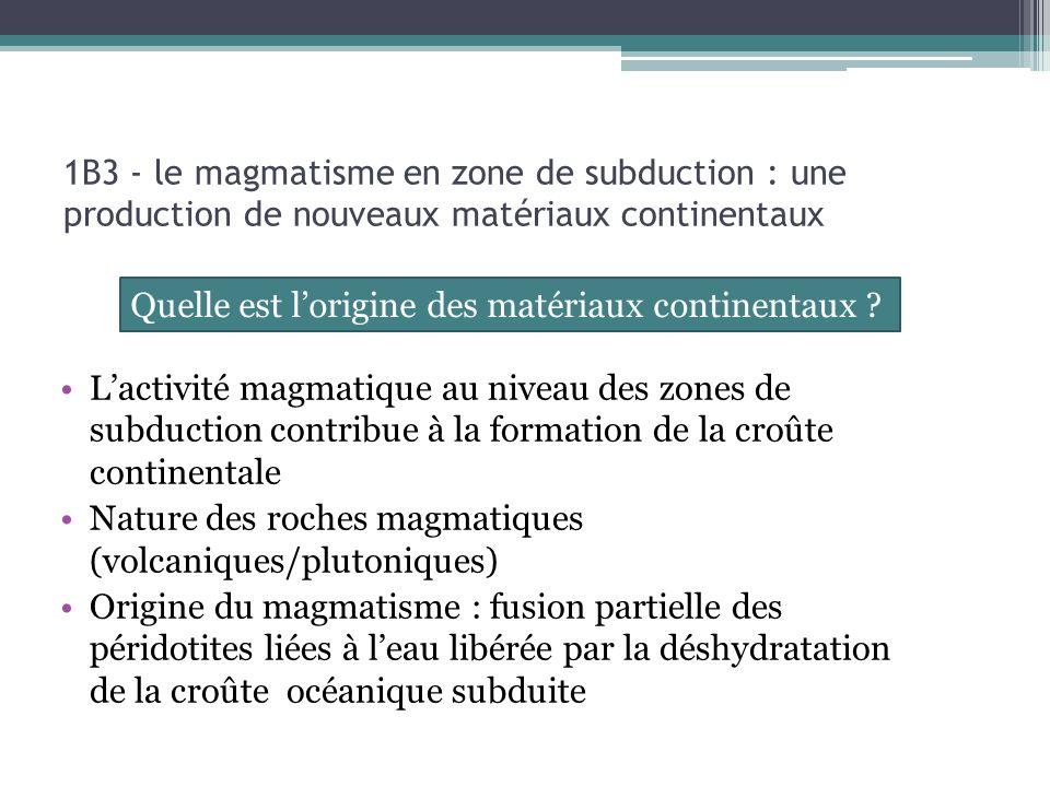 Quelle est l'origine des matériaux continentaux