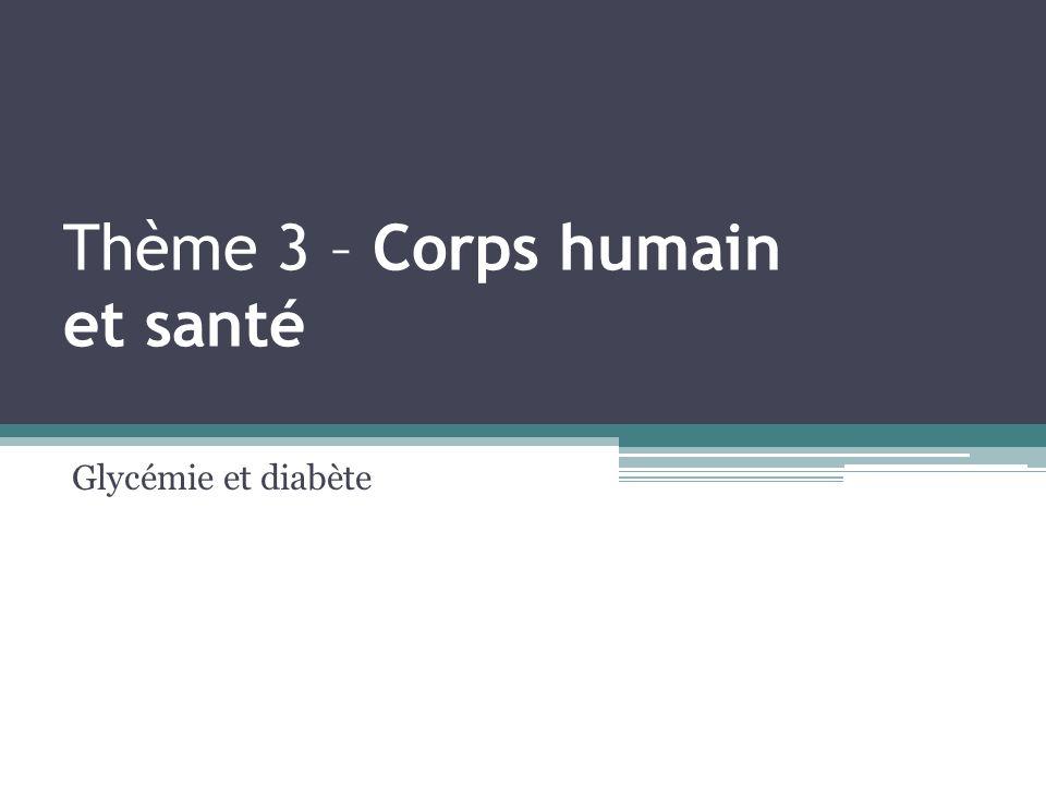 Thème 3 – Corps humain et santé