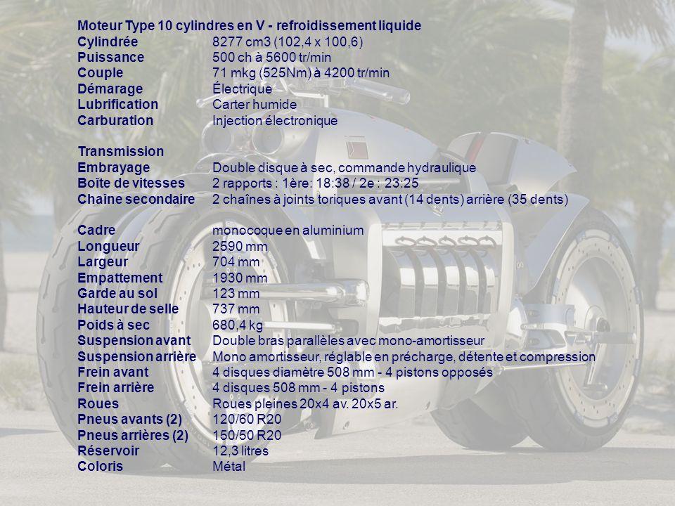 Moteur Type 10 cylindres en V - refroidissement liquide