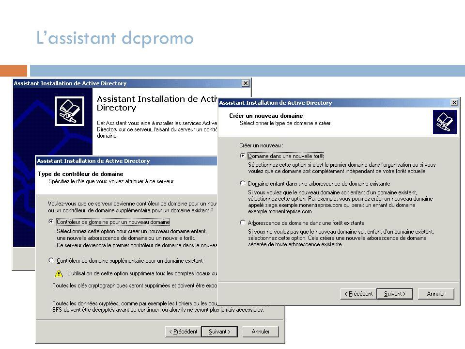 L'assistant dcpromo
