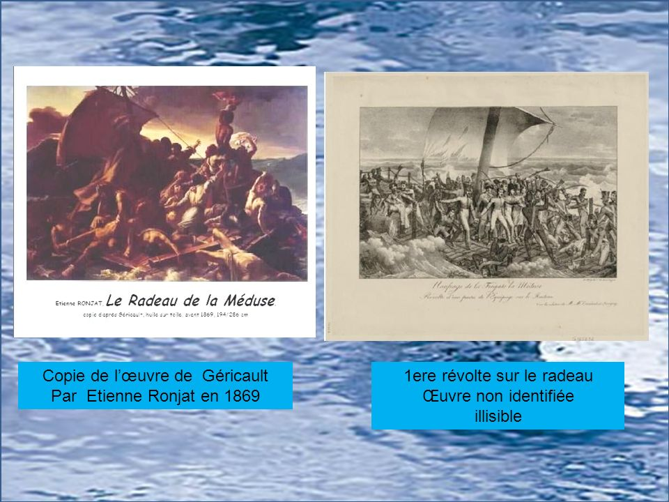 Copie de l'œuvre de Géricault Par Etienne Ronjat en 1869