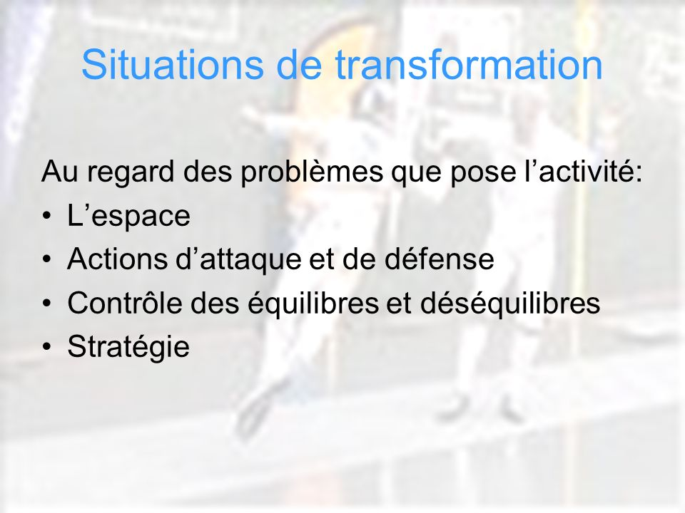 Situations de transformation