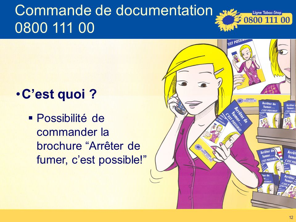 Commande de documentation 0800 111 00