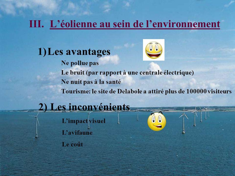 L'éolienne au sein de l'environnement