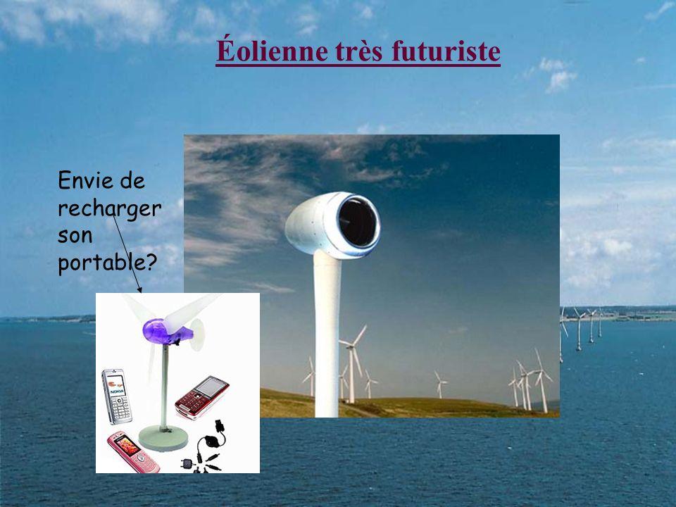 Éolienne très futuriste