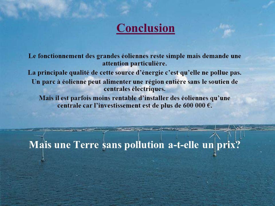 Mais une Terre sans pollution a-t-elle un prix