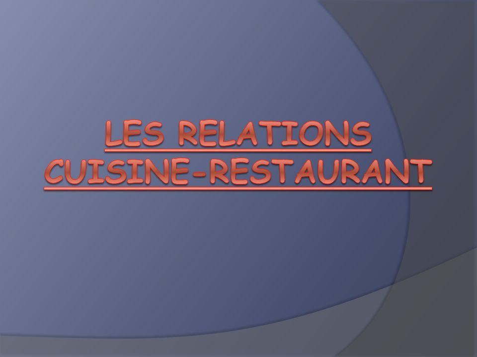 Les relations cuisine-restaurant