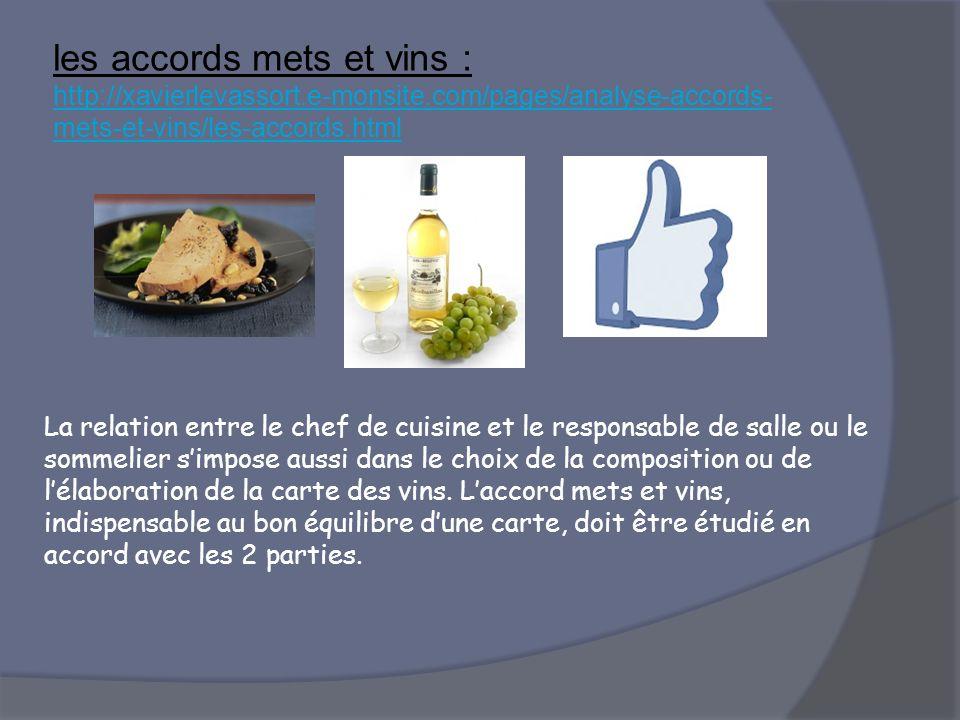 les accords mets et vins : http://xavierlevassort. e-monsite