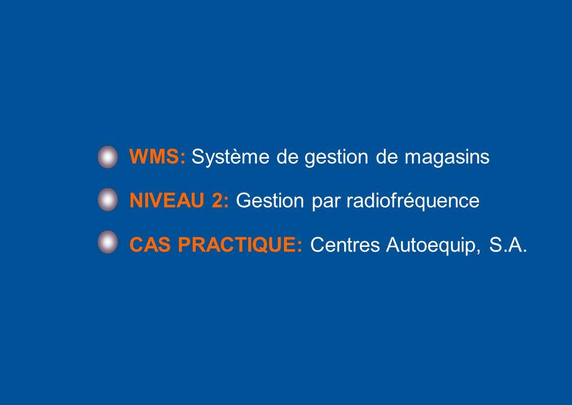 WMS: Système de gestion de magasins