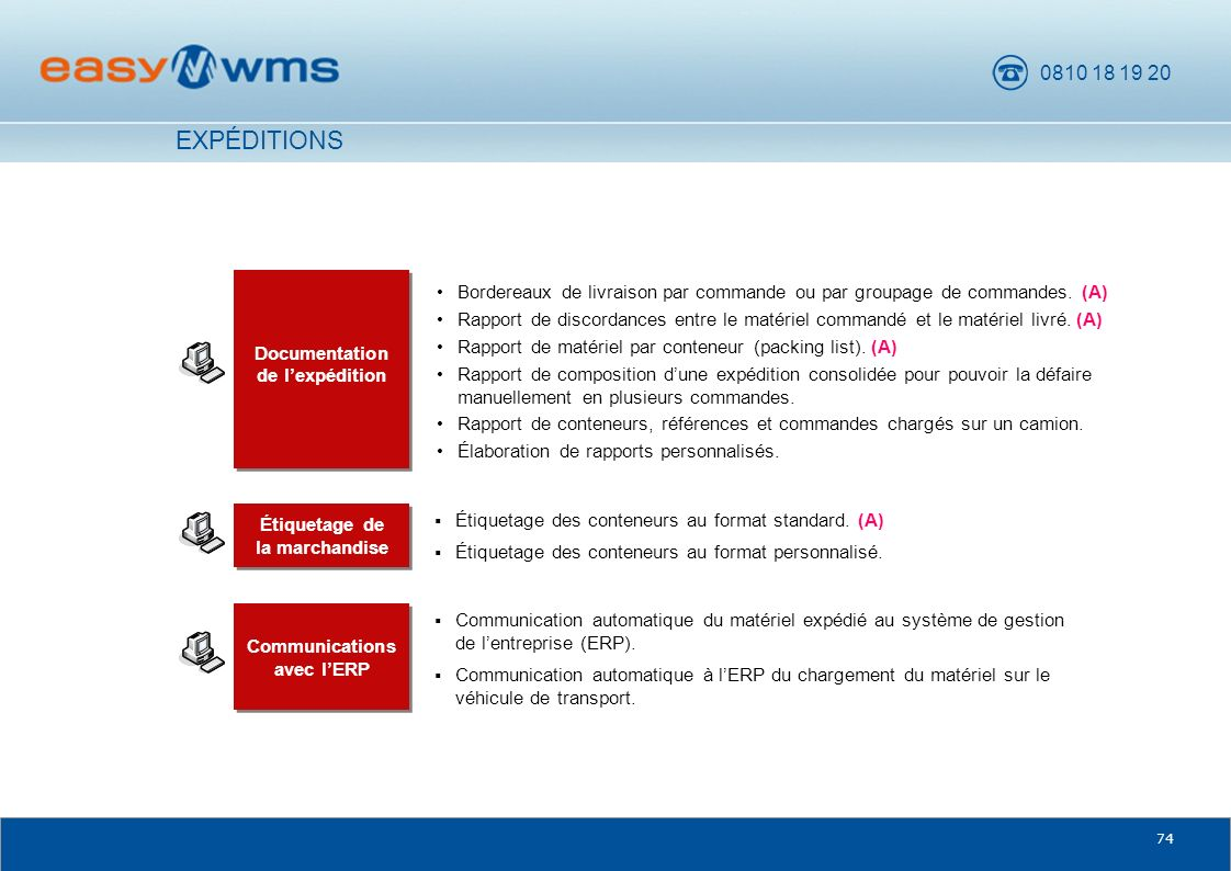 Communications avec l'ERP