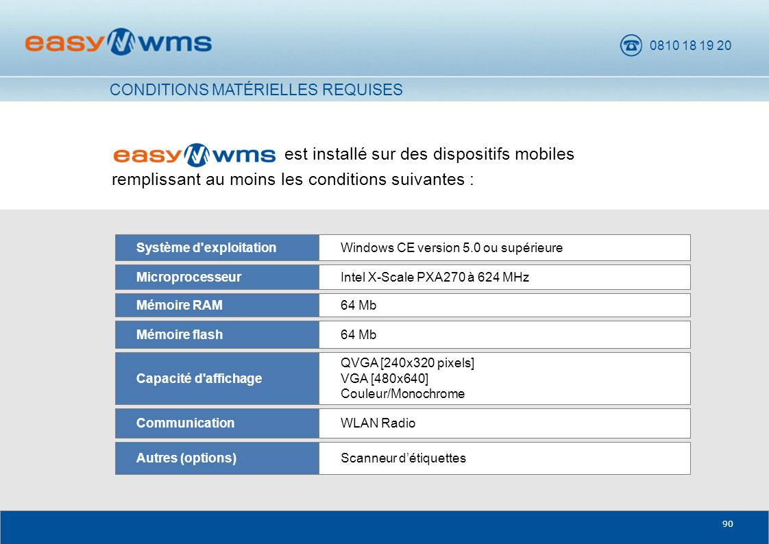 CONDITIONS MATÉRIELLES REQUISES