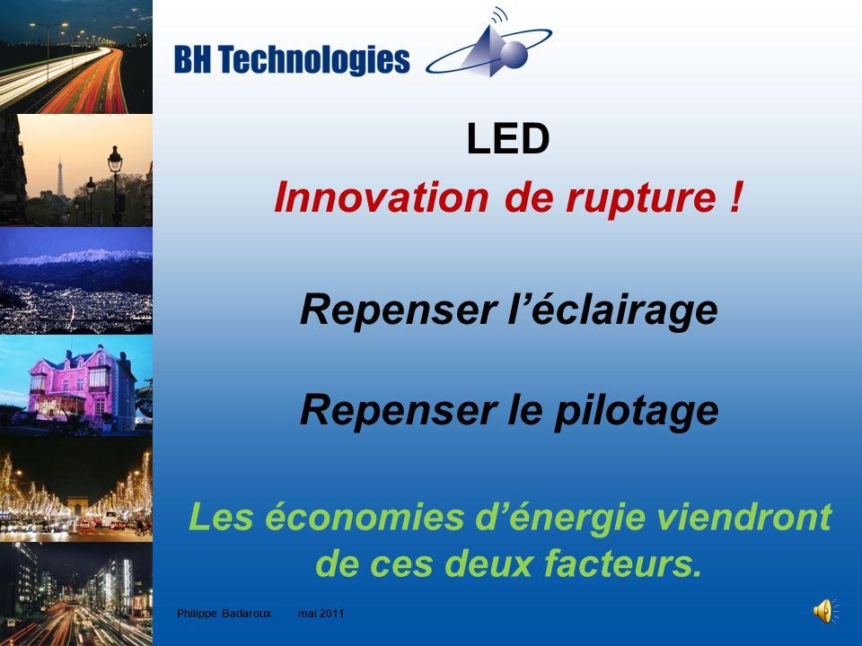 Les économies d'énergie viendront de ces deux facteurs.