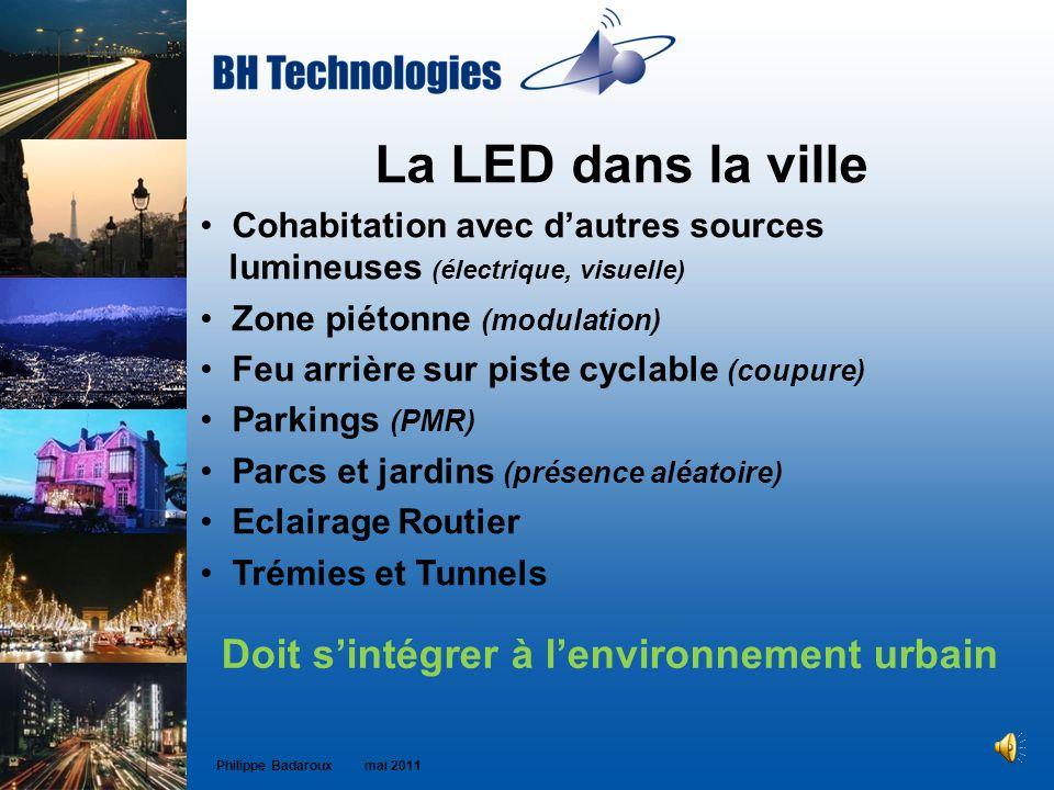 La LED dans la ville Doit s'intégrer à l'environnement urbain