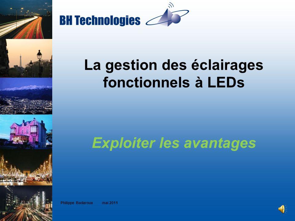 La gestion des éclairages fonctionnels à LEDs Exploiter les avantages