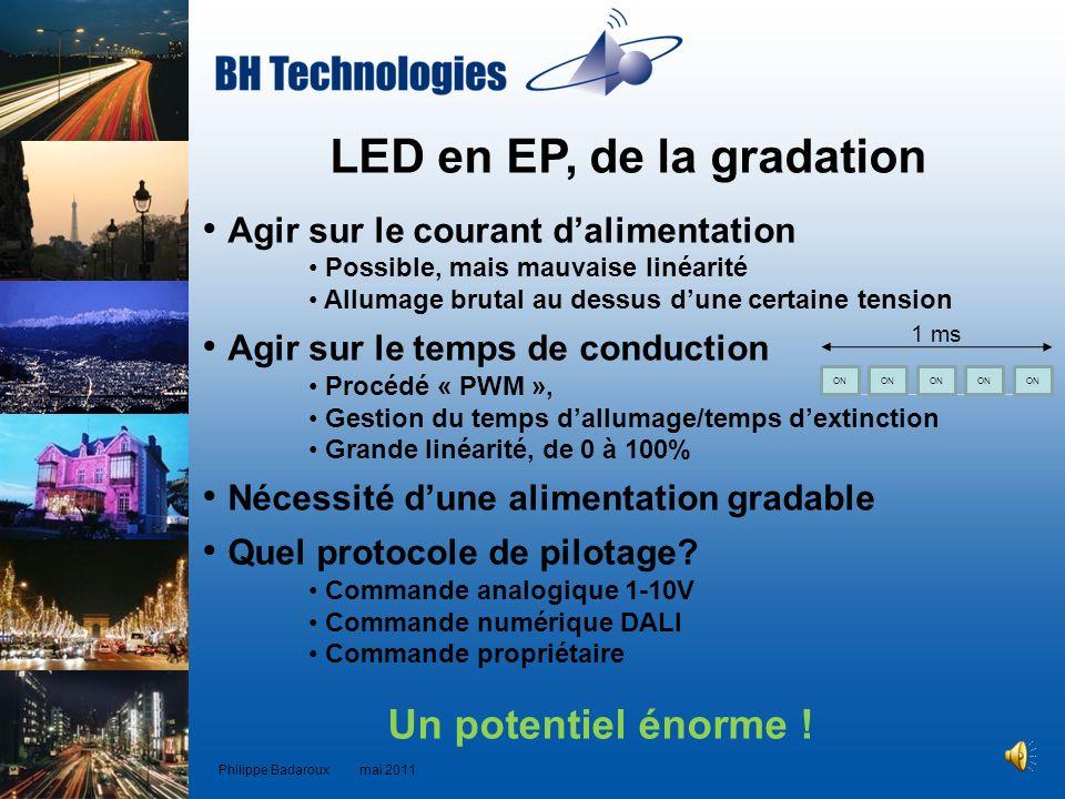 LED en EP, de la gradation