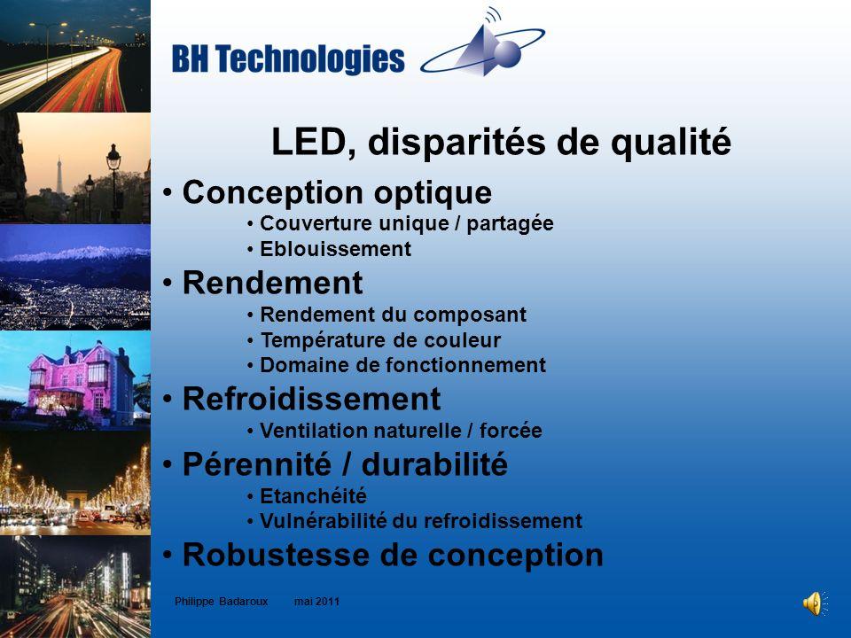 LED, disparités de qualité