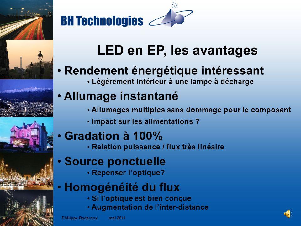 LED en EP, les avantages Rendement énergétique intéressant