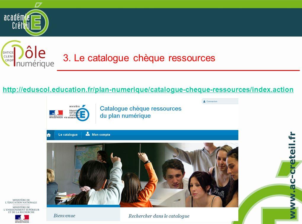 3. Le catalogue chèque ressources