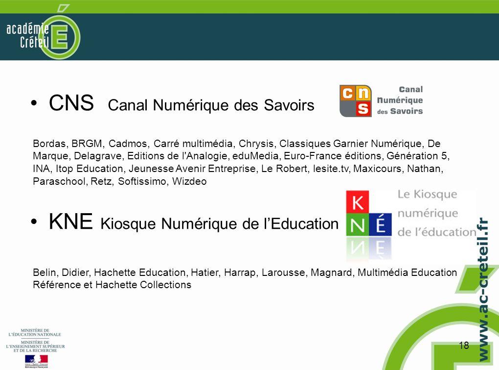 CNS Canal Numérique des Savoirs