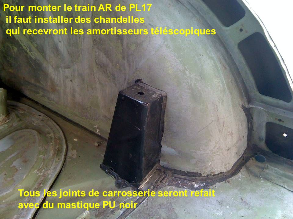 Pour monter le train AR de PL17