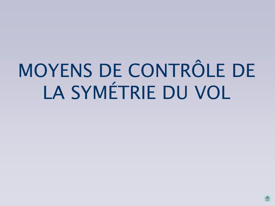 MOYENS DE CONTRÔLE DE LA SYMÉTRIE DU VOL