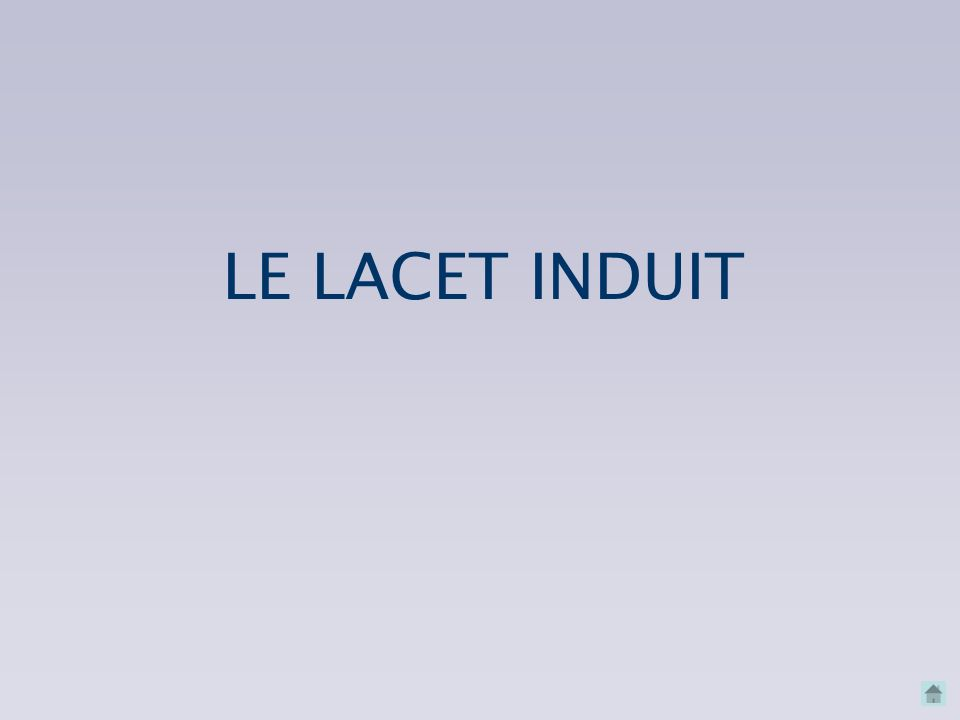 LE LACET INDUIT